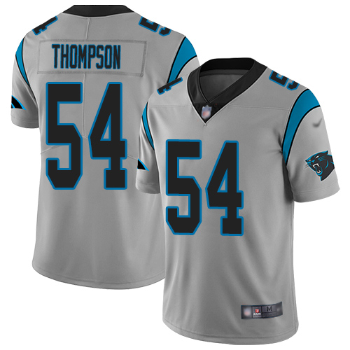 Carolina Panthers Limited Silver Youth Shaq Thompson Jersey NFL Football 54 Inverted Legend