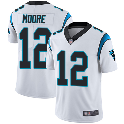 Carolina Panthers Limited White Men DJ Moore Road Jersey NFL Football 12 Vapor Untouchable