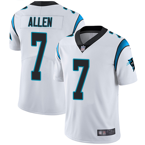 Carolina Panthers Limited White Men Kyle Allen Road Jersey NFL Football 7 Vapor Untouchable