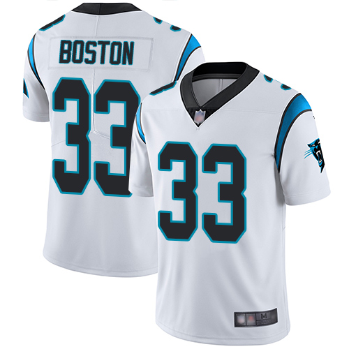 Carolina Panthers Limited White Men Tre Boston Road Jersey NFL Football 33 Vapor Untouchable