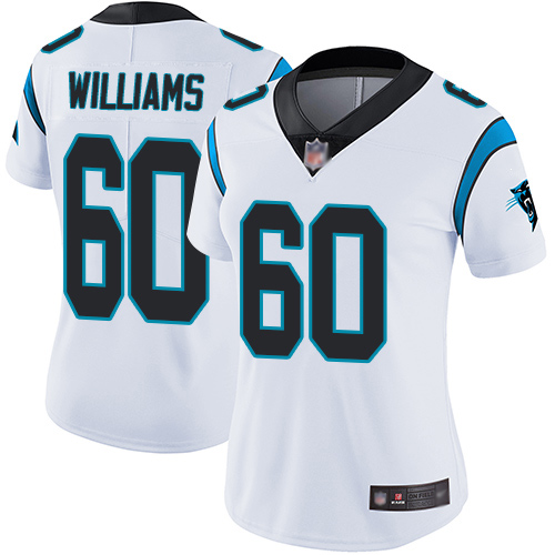 Carolina Panthers Limited White Women Daryl Williams Road Jersey NFL Football 60 Vapor Untouchable