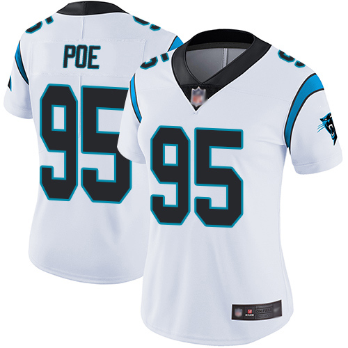 Carolina Panthers Limited White Women Dontari Poe Road Jersey NFL Football 95 Vapor Untouchable