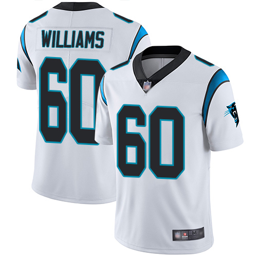 Carolina Panthers Limited White Youth Daryl Williams Road Jersey NFL Football 60 Vapor Untouchable