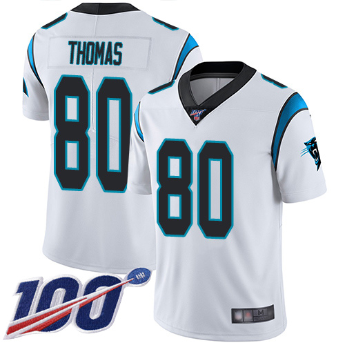 Carolina Panthers Limited White Youth Ian Thomas Road Jersey NFL Football 80 100th Season Vapor Untouchable