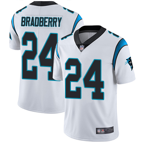 Carolina Panthers Limited White Youth James Bradberry Road Jersey NFL Football 24 Vapor Untouchable