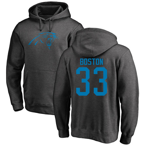 Carolina Panthers Men Ash Tre Boston One Color NFL Football 33 Pullover Hoodie Sweatshirts
