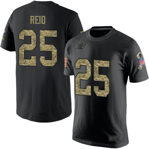 Carolina Panthers Men Black Camo Eric Reid Salute to Service NFL Football 25 T Shirt
