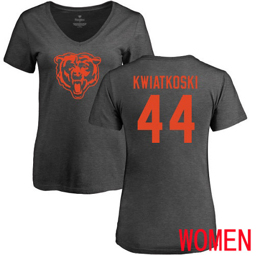 Chicago Bears Ash Women Nick Kwiatkoski One Color NFL Football 44 T Shirt