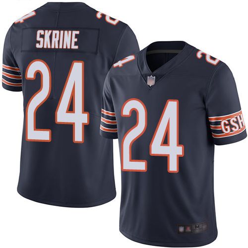 Chicago Bears Limited Navy Blue Men Buster Skrine Home Jersey NFL Football 24 Vapor Untouchable