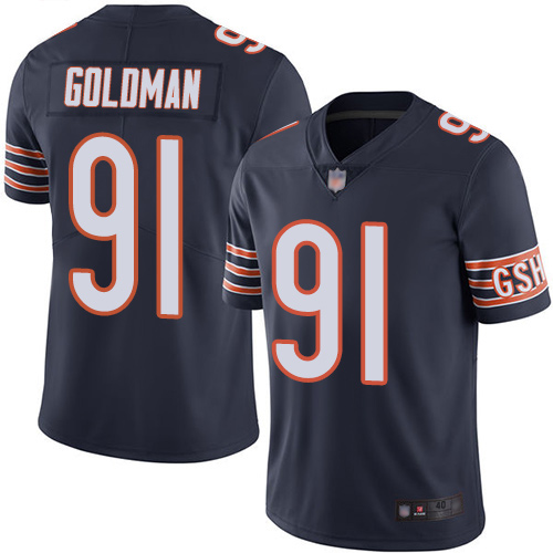 Chicago Bears Limited Navy Blue Men Eddie Goldman Home Jersey NFL Football 91 Vapor Untouchable