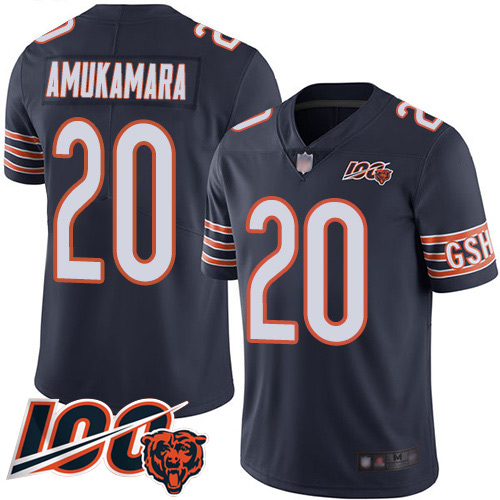 Chicago Bears Limited Navy Blue Men Prince Amukamara Home Jersey NFL Football 20 100th Season
