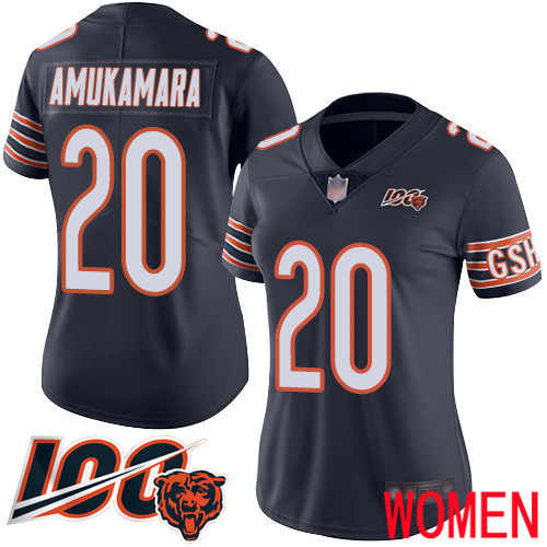 Chicago Bears Limited Navy Blue Women Prince Amukamara Home Jersey NFL Football 20 100th Season