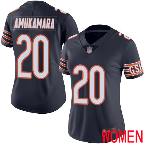 Chicago Bears Limited Navy Blue Women Prince Amukamara Home Jersey NFL Football 20 Vapor Untouchable
