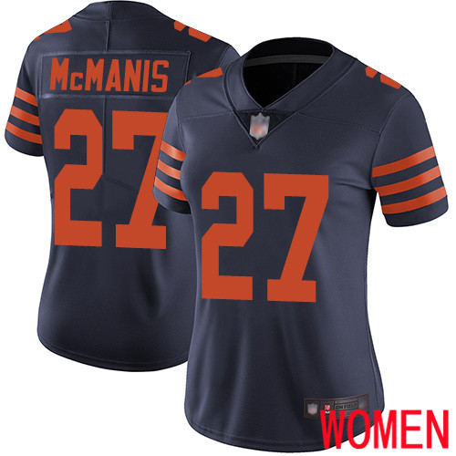 Chicago Bears Limited Navy Blue Women Sherrick McManis Jersey NFL Football 27 Rush Vapor Untouchable