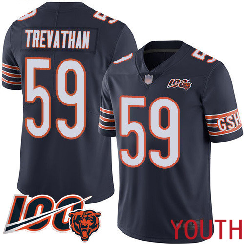 Chicago Bears Limited Navy Blue Youth Danny Trevathan Home Jersey NFL Football 59 100th Season