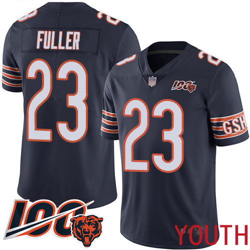 Chicago Bears Limited Navy Blue Youth Kyle Fuller Home Jersey NFL Football 23 100th Season
