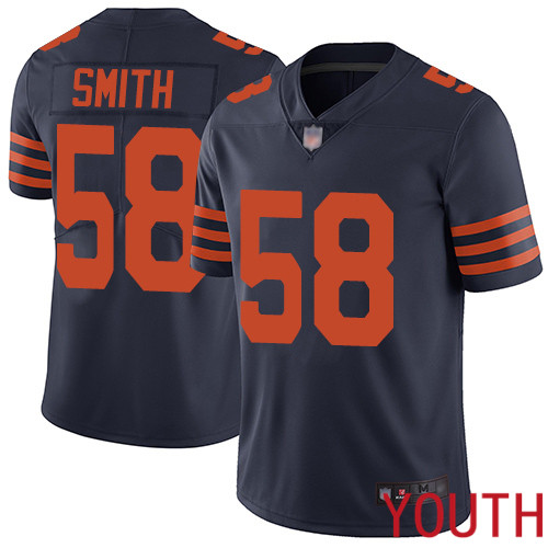 Chicago Bears Limited Navy Blue Youth Roquan Smith Jersey NFL Football 58 Rush Vapor Untouchable