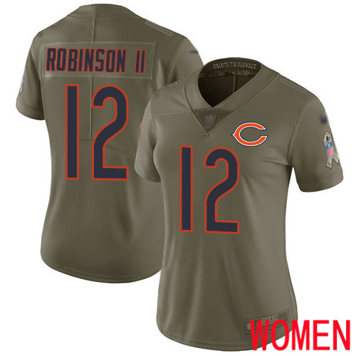 Chicago Bears Limited Olive Women Allen Robinson Jersey NFL Football 12 2017 Salute to Service