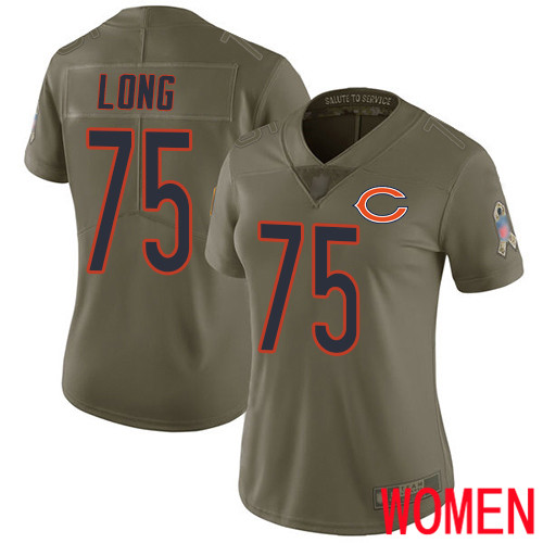 Chicago Bears Limited Olive Women Kyle Long Jersey NFL Football 75 2017 Salute to Service