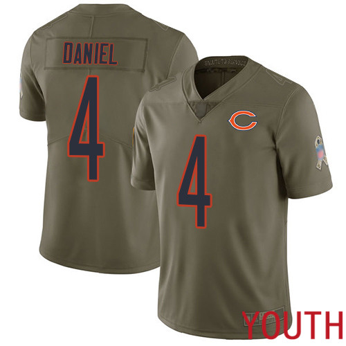 Chicago Bears Limited Olive Youth Chase Daniel Jersey NFL Football 4 2017 Salute to Service