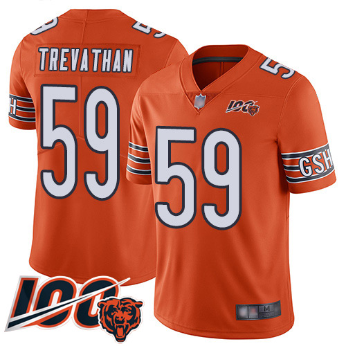 Chicago Bears Limited Orange Men Danny Trevathan Alternate Jersey NFL Football 59 100th Season