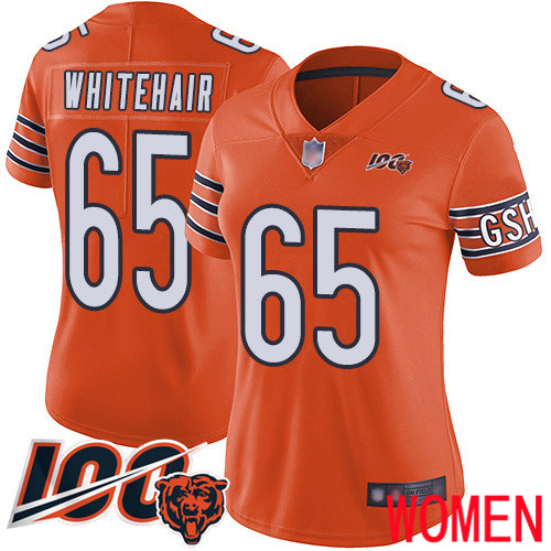Chicago Bears Limited Orange Women Cody Whitehair Alternate Jersey NFL Football 65 100th Season