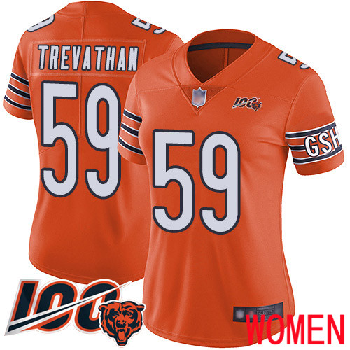 Chicago Bears Limited Orange Women Danny Trevathan Alternate Jersey NFL Football 59 100th Season