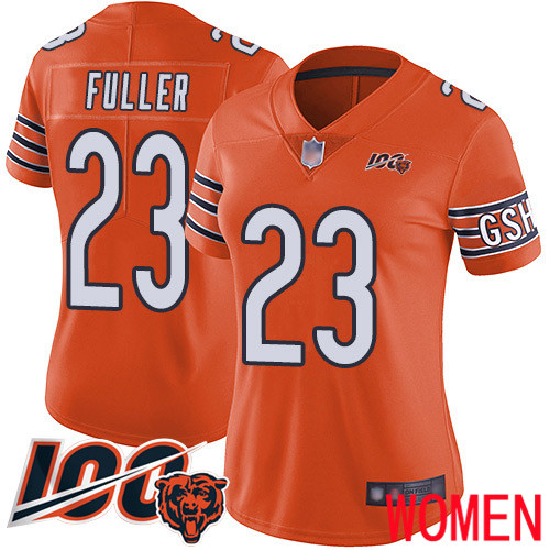 Chicago Bears Limited Orange Women Kyle Fuller Alternate Jersey NFL Football 23 100th Season