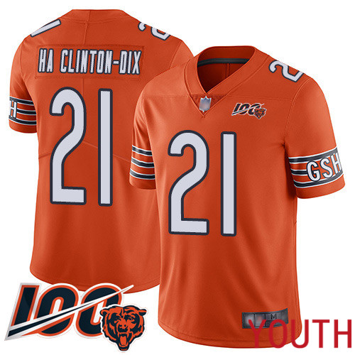 Chicago Bears Limited Orange Youth Ha Ha Clinton-Dix Alternate Jersey NFL Football 21 100th Season
