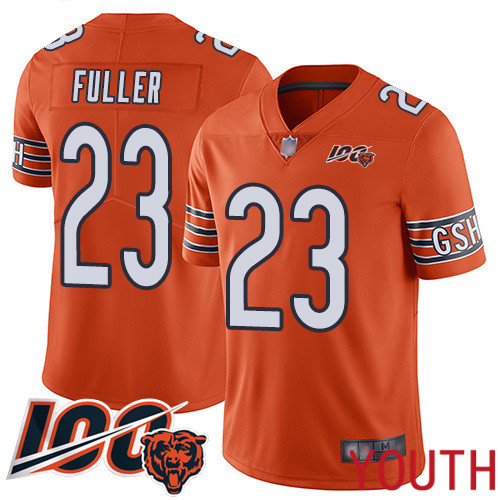 Chicago Bears Limited Orange Youth Kyle Fuller Alternate Jersey NFL Football 23 100th Season