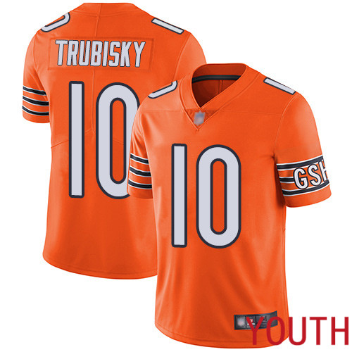 Chicago Bears Limited Orange Youth Mitchell Trubisky Alternate Jersey NFL Football 10 Vapor Untouchable