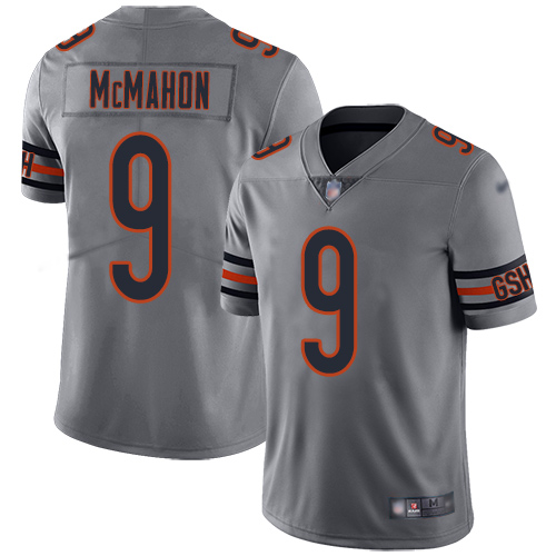 Chicago Bears Limited Silver Men Jim McMahon Jersey NFL Football 9 Inverted Legend