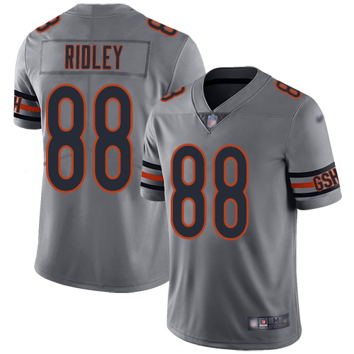 Chicago Bears Limited Silver Men Riley Ridley Jersey NFL Football 88 Inverted Legend