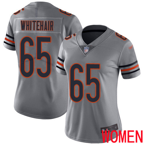 Chicago Bears Limited Silver Women Cody Whitehair Jersey NFL Football 65 Inverted Legend