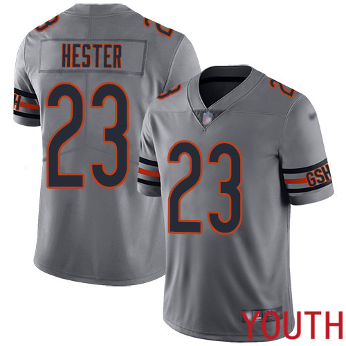 Chicago Bears Limited Silver Youth Devin Hester Jersey NFL Football 23 Inverted Legend