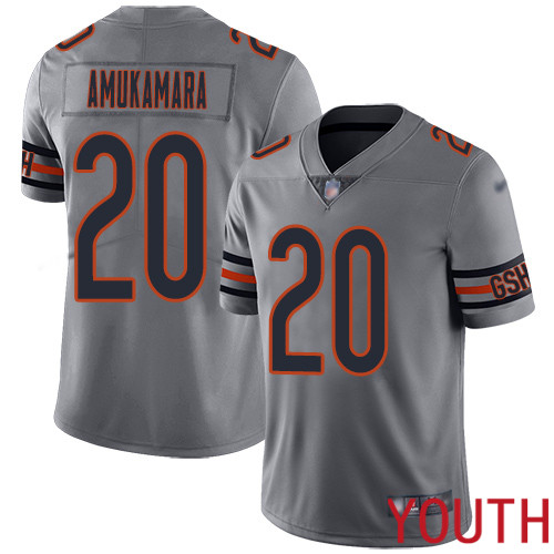 Chicago Bears Limited Silver Youth Prince Amukamara Jersey NFL Football 20 Inverted Legend