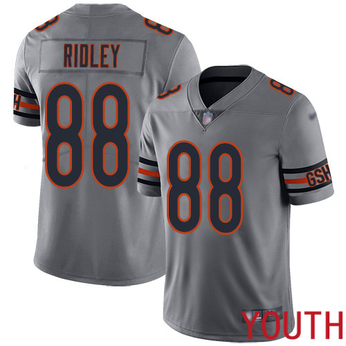Chicago Bears Limited Silver Youth Riley Ridley Jersey NFL Football 88 Inverted Legend
