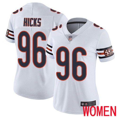 Chicago Bears Limited White Women Akiem Hicks Road Jersey NFL Football 96 Vapor Untouchable