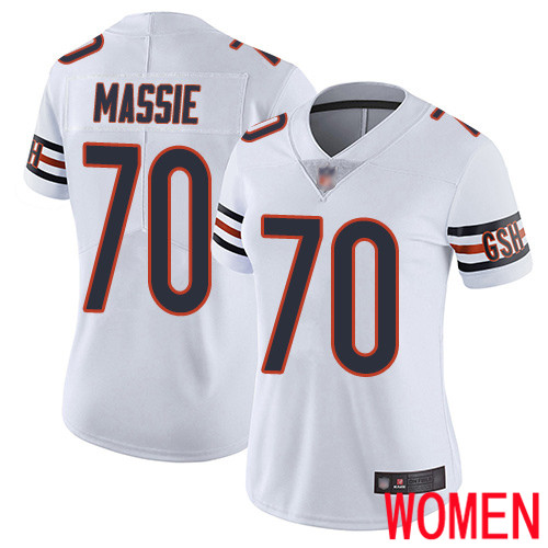Chicago Bears Limited White Women Bobby Massie Road Jersey NFL Football 70 Vapor Untouchable