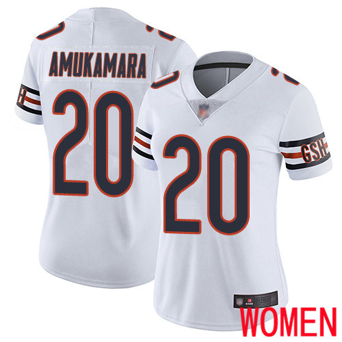 Chicago Bears Limited White Women Prince Amukamara Road Jersey NFL Football 20 Vapor Untouchable