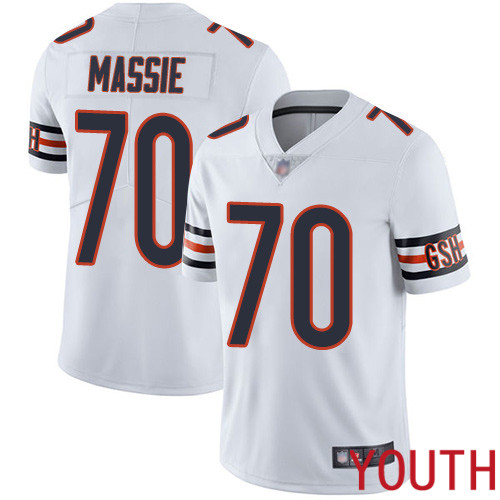Chicago Bears Limited White Youth Bobby Massie Road Jersey NFL Football 70 Vapor Untouchable