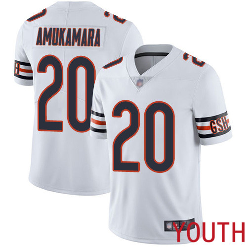 Chicago Bears Limited White Youth Prince Amukamara Road Jersey NFL Football 20 Vapor Untouchable