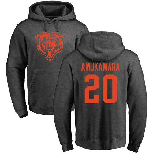 Chicago Bears Men Ash Prince Amukamara One Color NFL Football 20 Pullover Hoodie Sweatshirts