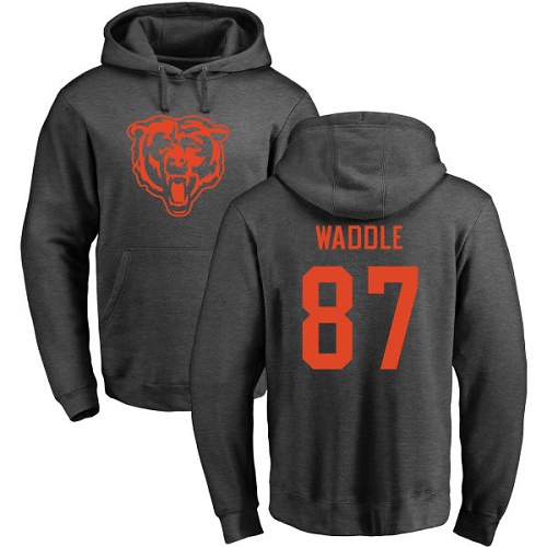 Chicago Bears Men Ash Tom Waddle One Color NFL Football 87 Pullover Hoodie Sweatshirts