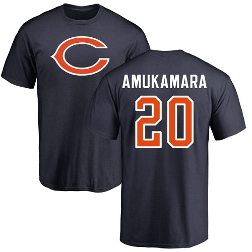 Chicago Bears Men Navy Blue Prince Amukamara Name and Number Logo NFL Football 20 T Shirt