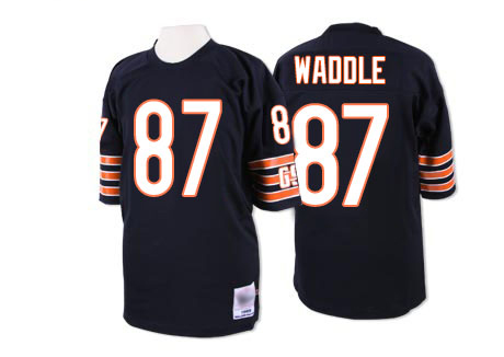 Chicago Bears Premier Navy Blue Men Tom Waddle Home Jersey NFL Football 87 Throwback