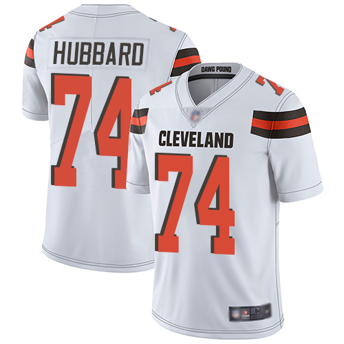 Cleveland Browns Chris Hubbard Men White Limited Jersey 74 NFL Football Road Vapor Untouchable