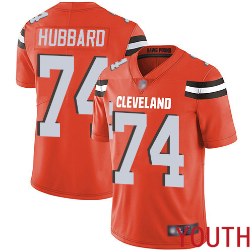 Cleveland Browns Chris Hubbard Youth Orange Limited Jersey 74 NFL Football Alternate Vapor Untouchable