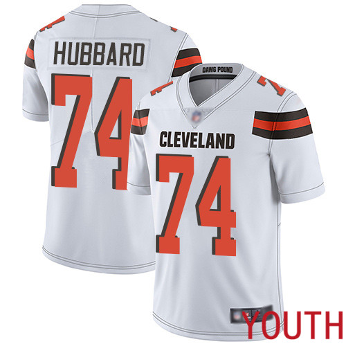 Cleveland Browns Chris Hubbard Youth White Limited Jersey 74 NFL Football Road Vapor Untouchable