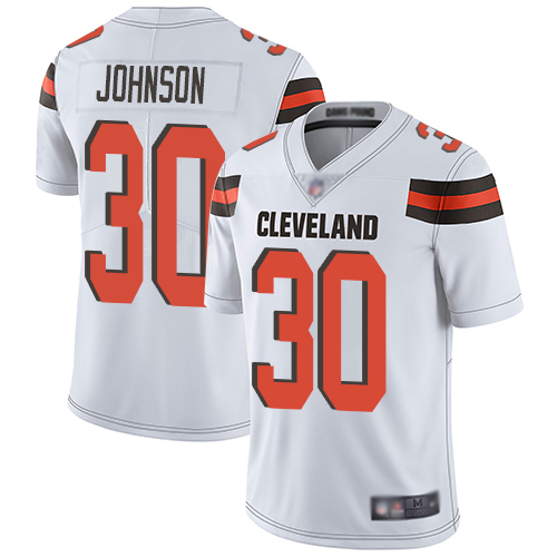 Cleveland Browns D Ernest Johnson Men White Limited Jersey 30 NFL Football Road Vapor Untouchable